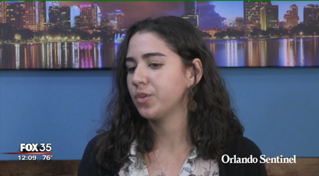 Orlando Sentinel reporter Bianca Padró Ocasio describes how a rat infestation closed down a government office in Kissimmee, FLorida that was storing donations destined for Puerto Rico, contaminating boxes of supplies that were never sent to the island, 6 February 2018. Photo: Orlando Sentinel / Fox 35