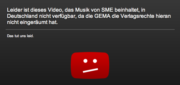 YouTube GEMA