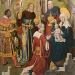 Maître du Monogramme A.H. - L'Adoration des mages (détail, peintre actif aux Pays-Bas méridionaux vers 1500)