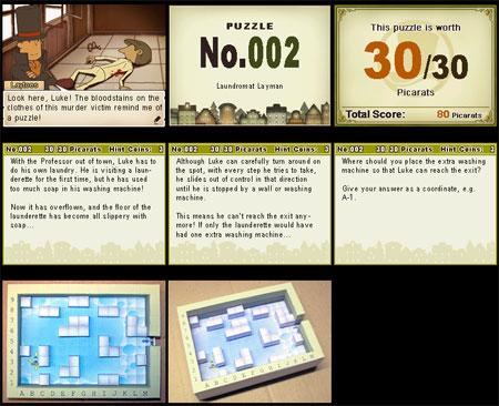 Professor Layton Tile Slide Puzzle Papercraft Laundromat Layman