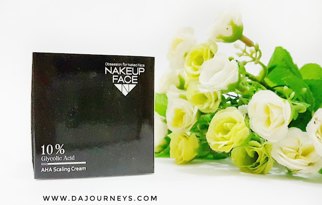 review NAKEUP FACE 10% Glycolic Acid AHA Scaling Cream