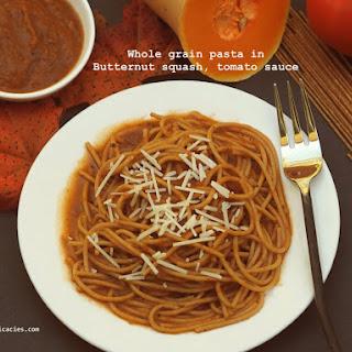 Whole-grain Pasta In Pumpkin, Tomato Sauce.