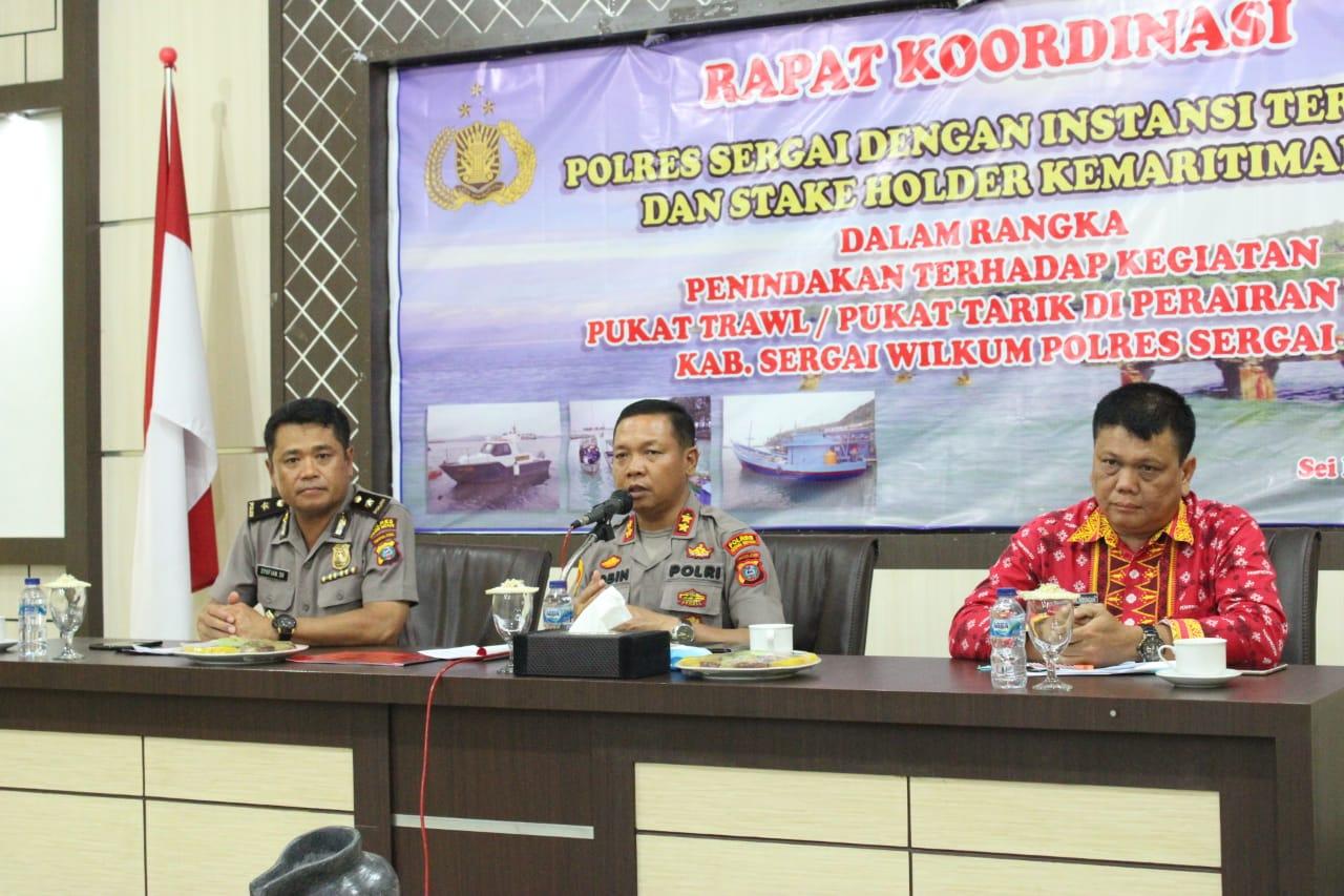 Cegah Pukat Trawl, Polres Sergai Rapat Kordinasi Kemaritiman