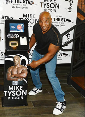 Mike Tyson promoting Bitcoin ATM