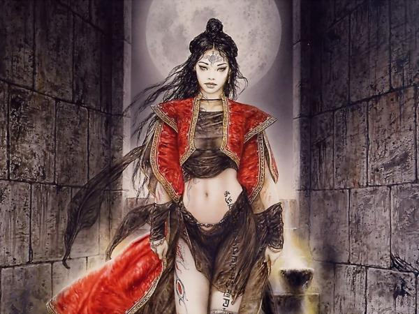 Moon Mage In Red, Moon Magic