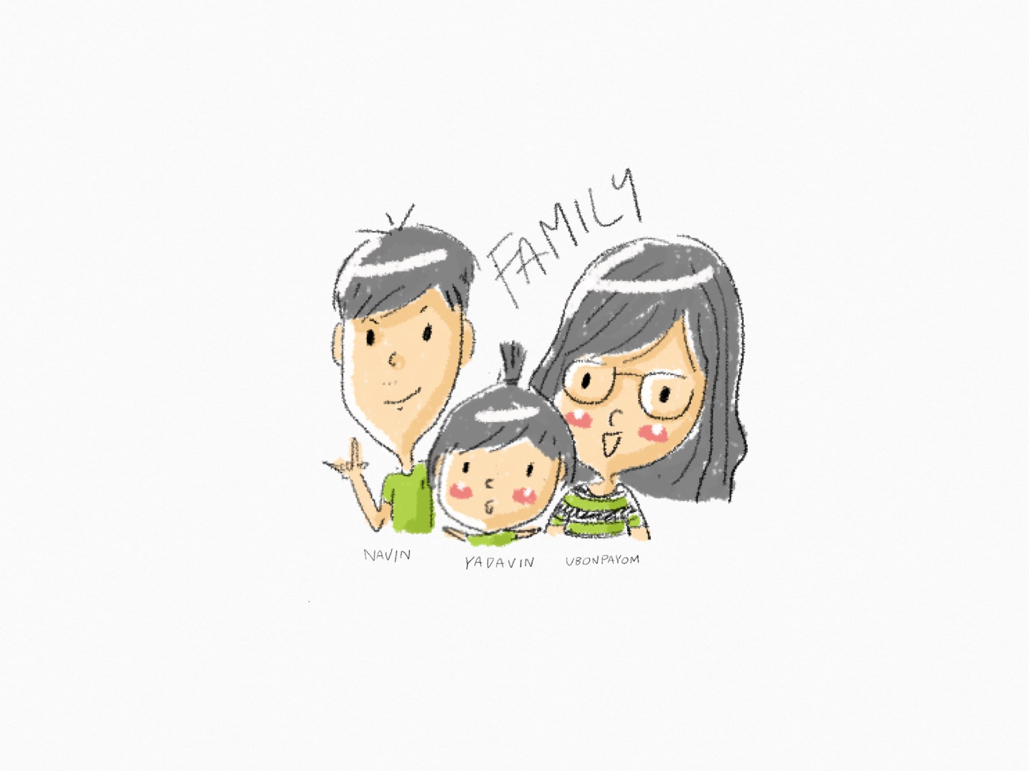 my family  made with Sketches