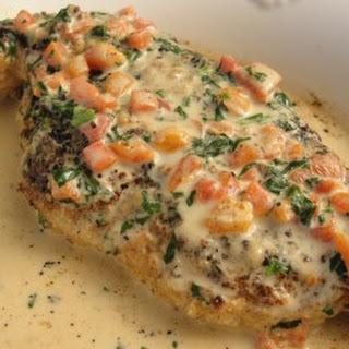 Chicken in Basil Cream (9 pts).