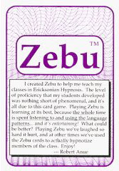 Cover of Robert Anue's Book The Hypno Zebu Language Card Game Manual