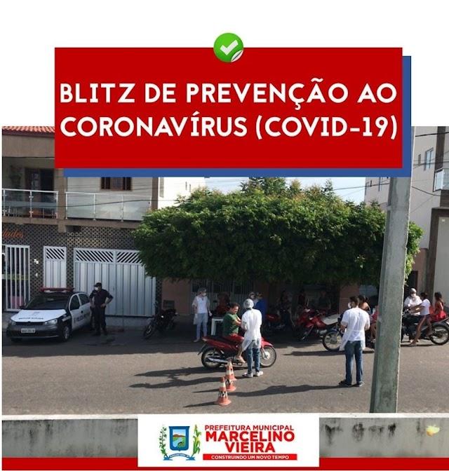 PREFEITURA DE MARCELINO VIEIRA PROMOVE BLITZ DE CONCIENTIZAÇÃO CONTRA O COVID-19