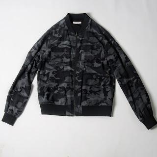 Equipment Homme Silk Camo Bomber Jacket