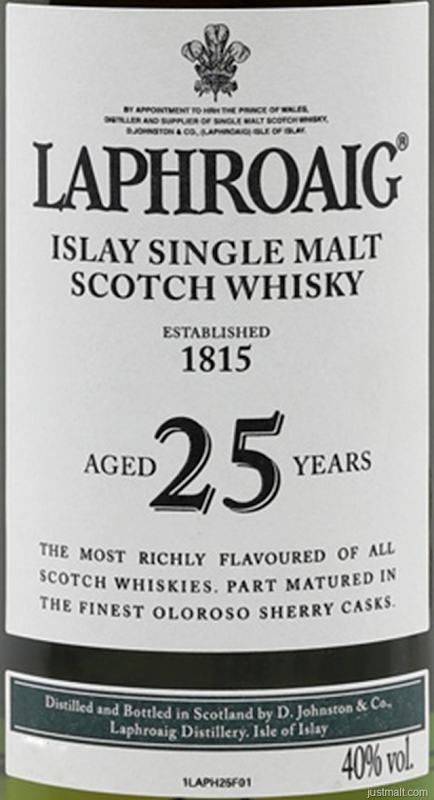 Laphroaig Islay Single-Malt Scotch Whiskey 25-Year