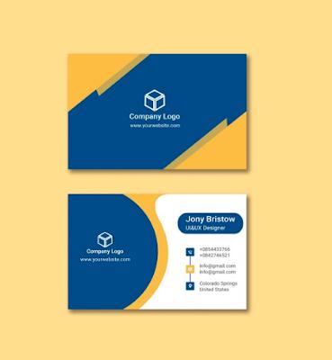 Membuat Kartu Nama Simple dan Sederhana   Templates Design Gratis