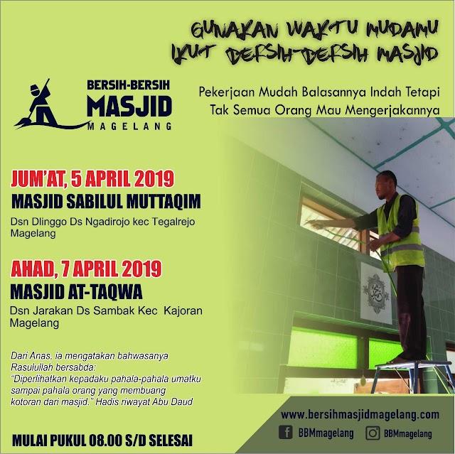 Bergabunglah dalam Kegiatan Bersih-Bersih Masjid At-Taqwa Jarakan Sambak Kecamatan Kajoran Kabupaten Magelang