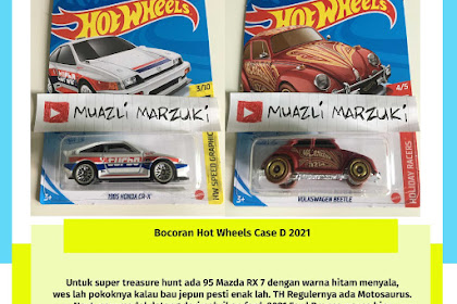 Bocoran Hot Wheels Case D 2021