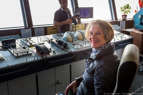 Russia river cruise Diana at the helm