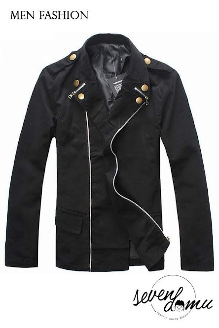 seven domu jacket korea double zipper sk08 5