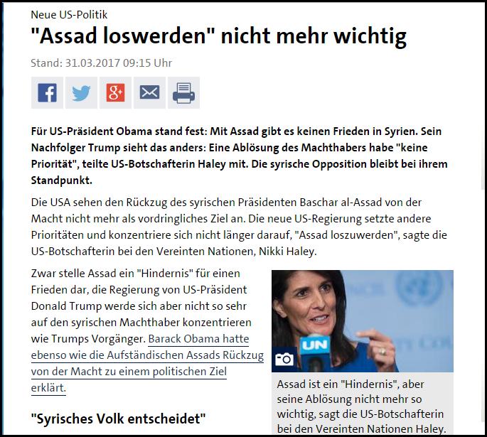 Assad loswerden nicht mehr wichtig