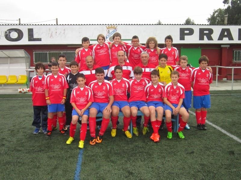 Equipo infantil do Numancia de Ares temporada 2013-2014.
