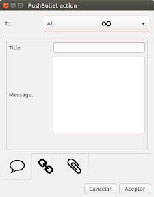 Enviar archivos con Pusbullet Indicator