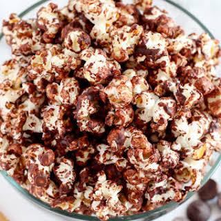 Dark Chocolate Sea Salt Popcorn.
