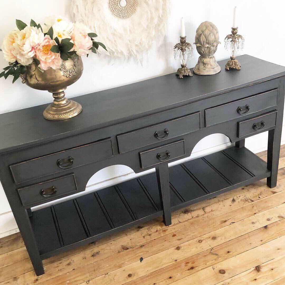 Fusion Mineral paint ash console lilyfield life