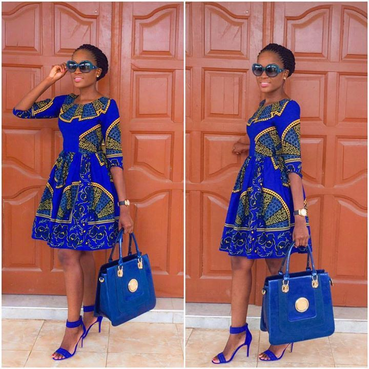 AMAZING OFFICE GOWN STYLES FOR NIGERIAN LADIES IN 2019 7