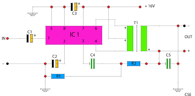IC Power Amplifier with Output Transformer