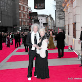 WWW.ENTSIMAGES.COM -  Brian May and Anita Dobson    at      The Olivier Awards at Royal Opera House, Covent Garden, London, April 28th 2013                                               Photo Mobis Photos/OIC 0203 174 1069