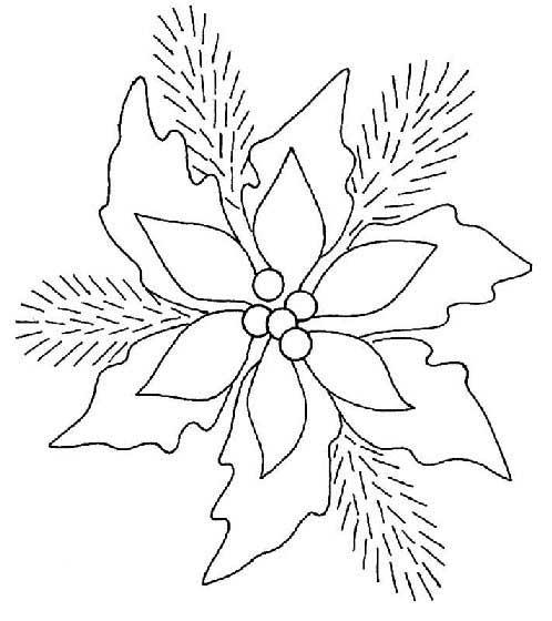 Dibujos De Flor De Nochebuena Para Imprimir Imagui