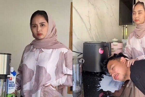 Drama Pasutri, Tumpahkan Susu di Dapur, Istri Lap Pakai Kepala Suami
