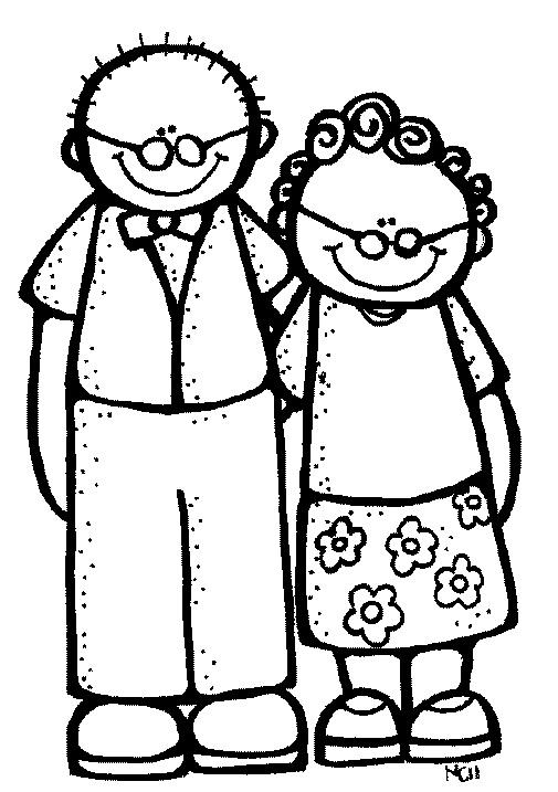 grandparents clipart black and white - photo #1