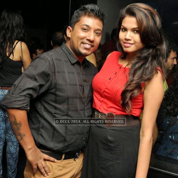 Arindam and Puja during the Saturday night at Underground in Kolkata.