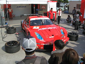 350Z GT in the pits