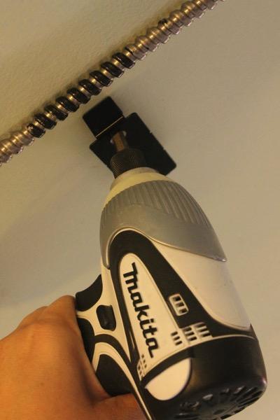 Installing garage controller bracket