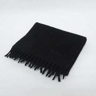 Prada Black Cashmere Scarf