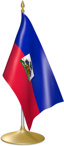 Haitian table flags - desk flags