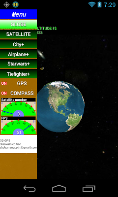 3D GPS satellite - screenshot