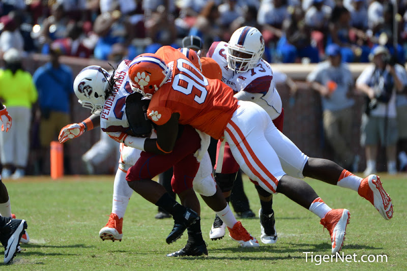 SC State vs. Clemson Photos - 2013, Football, SC State, Shaq Lawson