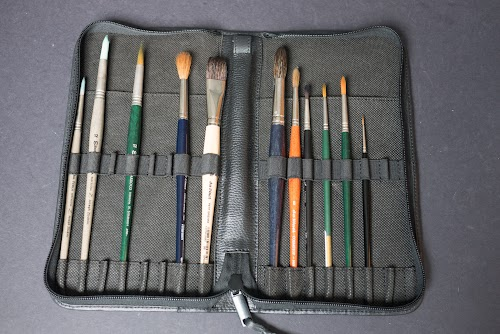 Escoda Leather Brush Case