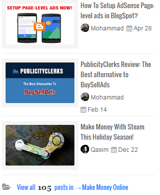 Display Recent Posts by label With Thumbnails in blogger