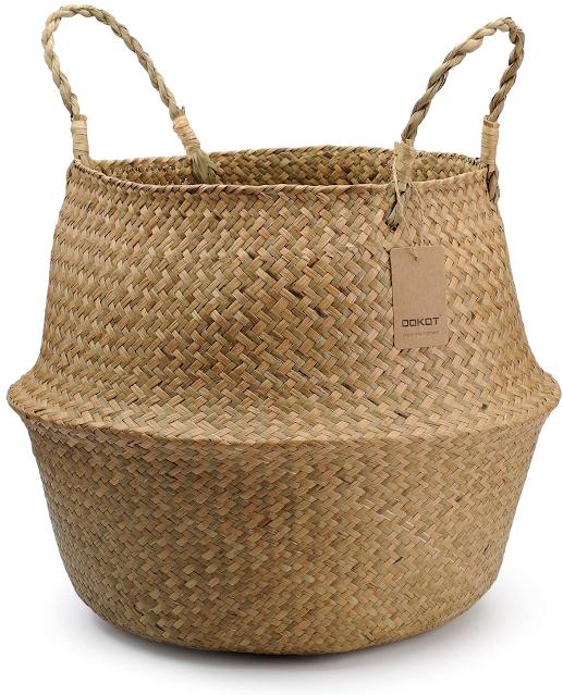 large seagrass basket