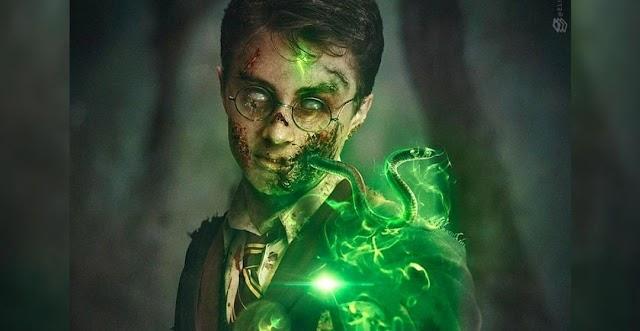 Fan Art de Harry Potter mostra Daniel Radcliffe como Zumbi