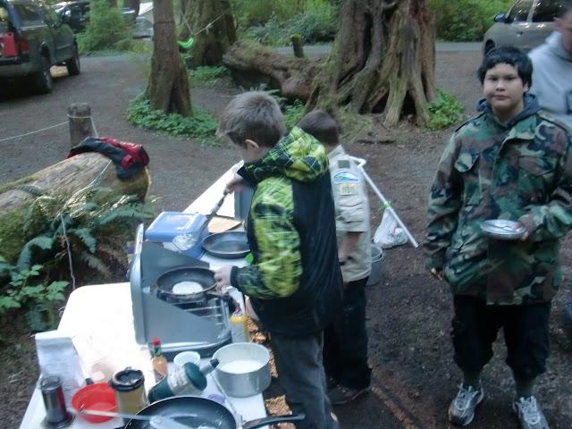Chez John making pancakes