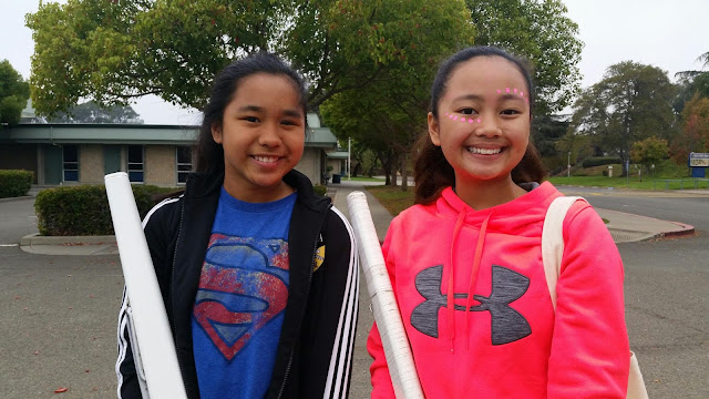 Gabby & Chesca @ Benicia Middle School Band Camp | BMS VikingsRifle Team, Color Guard