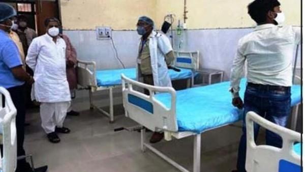 कोविड अस्पताल के संचालन से मरीजों को मिलेगी सुविधा मुकुट बिहारी वर्मा कैबिनेट मंत्री ने चिकित्सालय के शीघ्र संचालन के दिये निर्देश #Bahraichnews