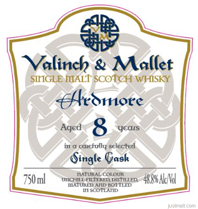 Valinch & Mallet Ardmore 8-Year Single Malt Scotch Whiskey