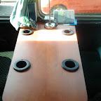 de tafel in de mercedes 0303 van  Hummelinckstuurman