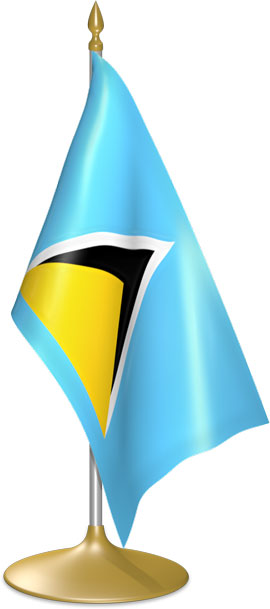 Saint Lucian table flags - desk flags