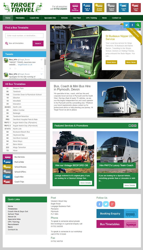 Bus, Coach & Mini Bus Hire in Plymouth, Devon - Target Travel