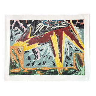 Gregory Amenoff 'Urania' Signed Large Woodblock Print